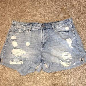 Stone washed shorts